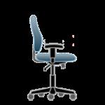 Nereguliuojami kėdės porankiai.